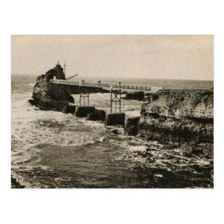 Biarritz Pont und Rocher Postkarte