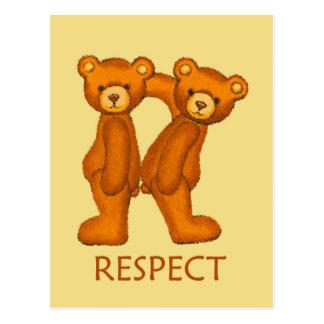 Bibel-Bären ~ Respekt-Schrift ~ Flashcard Postkarte