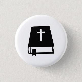 Bibel-Buch Runder Button 3,2 Cm