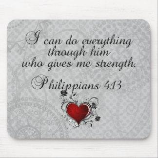 Bibel-christliches Versphilippians-4:13 Mousepads