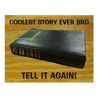 Bibel, coole Geschichte Bro Postkarte