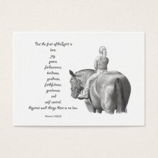 BIBEL-MINIkarte: Pferd: FRUCHT DES GEISTES: Visitenkarte