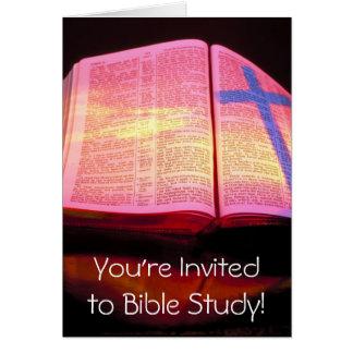 Bibel-Studien-Einladung Karte