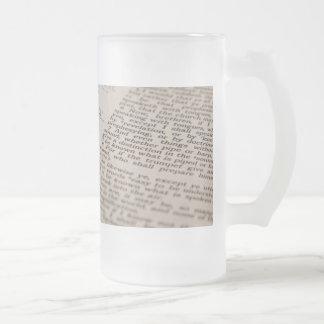 Bibel-Text Mattglas Bierglas