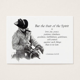 BIBEL-TEXT-MINIkarte: FRUCHT DES GEISTES: COWBOY Visitenkarte