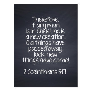 Bibel-Vers 5:17 mit 2 Korinthern Postkarte
