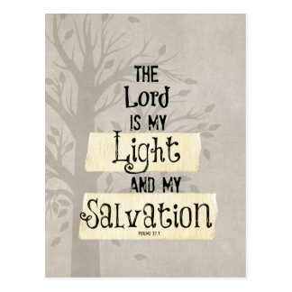 Bibel-Vers: Der Lord ist mein Licht und mein Postkarte