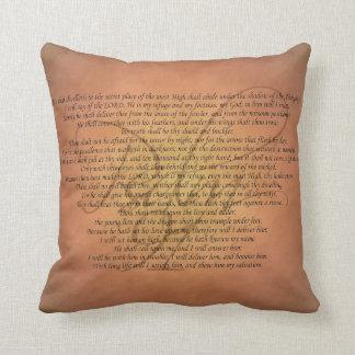 Bibel-Vers des Psalm-91 Kissen