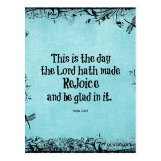 Bibel-Vers dieses ist der Tag, den das Lord hath Postkarten