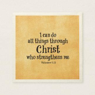 Bibel-Vers: Ich kann alle Sachen durch Christus Serviette
