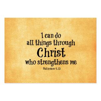 Bibel-Vers Ich kann alle Sachen durch Christus Visitenkartenvorlage