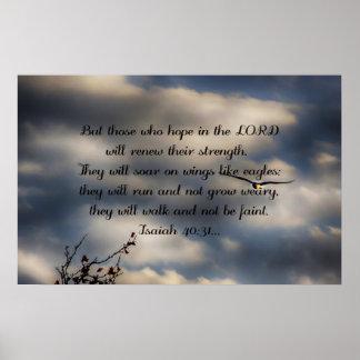 Bibel-Vers-Jesaja-40:31 Poster