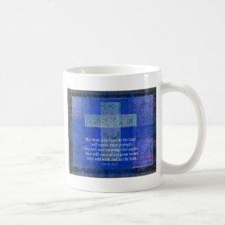 Bibel-Vers Jesaja 40: - 31 zeitgenössisches Kaffeetasse