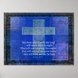 Bibel-Vers Jesaja 40: - 31 zeitgenössisches Posterdruck