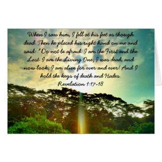 Bibel-Vers - Jesus in seinem Ruhm Karte