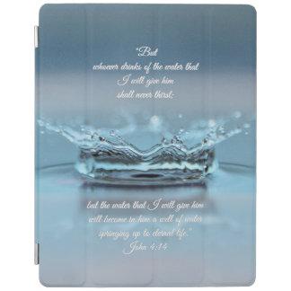 Bibel-Vers John Durst des blaues Wasser-Lebens nie iPad Smart Cover