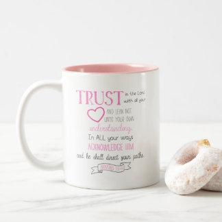 Bibel-Vers-Kaffee-Tassen-Sprichwort-3:5 - 6 Zweifarbige Tasse
