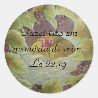 Bibel-Vers Lc 22,19 Runder Aufkleber