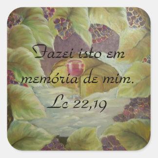 Bibel-Vers Lc 22,19 Quadratischer Aufkleber
