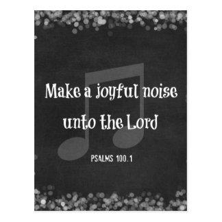 Bibel-Vers: Machen Sie frohen Geräusche Postkarte