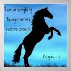 Bibel-Vers Philippians-4:13-Pferdeplakat Poster