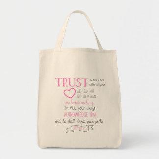 Bibel-Vers-Taschen-Taschen-Sprichwort-3:5 - 6 Tragetasche