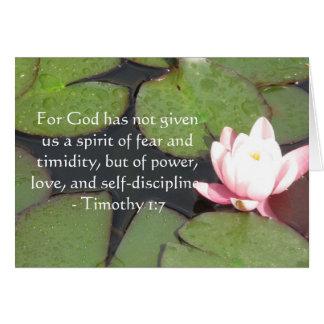 Bibel-Vers über Mut - Timothy-1:7 Karte