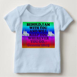 Bibel-Vers vom Genese-28:15. Baby T-Shirt