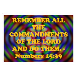 Bibel-Vers vom Zahl-15:39. Fotodruck
