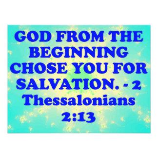 Bibel-Vers von 2 Thessalonians 2:13. Fotodruck