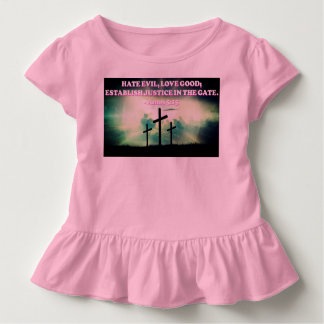 Bibel-Vers von Amo-5:15. Kleinkind T-shirt