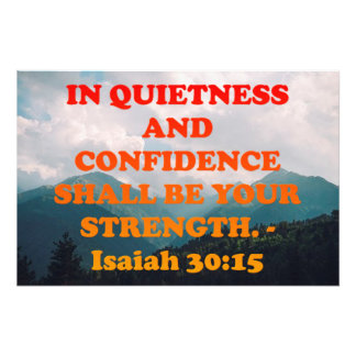 Bibel-Vers von Jesaja-30:15. Fotodruck