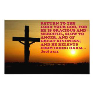 Bibel-Vers von Joel 2:13. Fotodruck