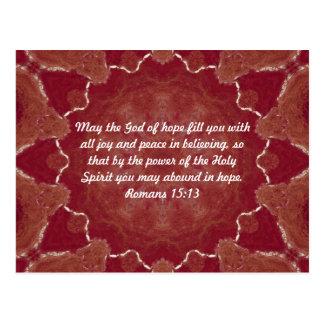 Bibel-Verse, die Zitat-Römer-15:13 emporheben Postkarten