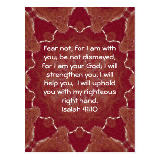 Bibel versifiziert inspirierend Zitat-Jesaja-41:10 Postkarten