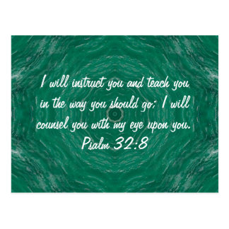 Bibel versifiziert inspirierend Zitat-Psalm-32 8 Postkarte