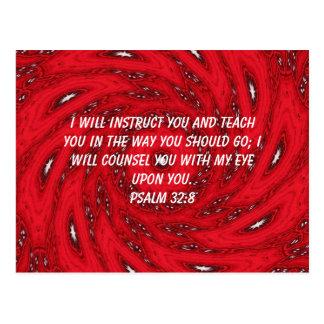 Bibel versifiziert inspirierend Zitat-Psalm-32 8 Postkarten