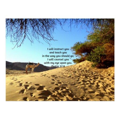 Bibel versifiziert inspirierend Zitat-Psalm-32:8 Postkarten