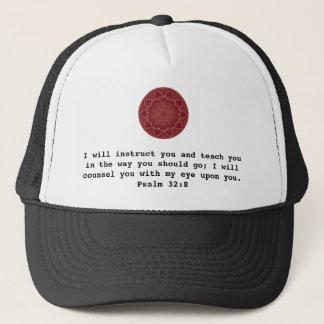 Bibel versifiziert inspirierend Zitat-Psalm-32:8 Truckerkappe
