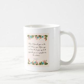 Bibel versifiziert Kunst - Jeremias-1:5 Kaffeetasse