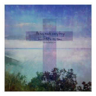 Bibel-Verskunst-Schrift Ecclesiastes 3:11 Poster