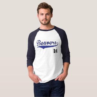 Biber-Baseball-Grafik T-Shirt