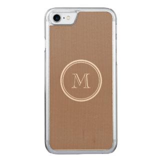 Biber-Brown-obere Grenze gefärbt Carved iPhone 8/7 Hülle