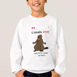 Biber-Felsen Kanadas 150 im Jahre 2017 an Sweatshirt