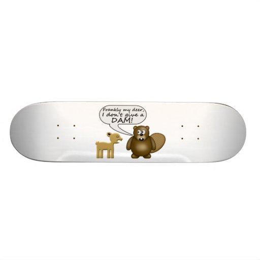 Biber geben nicht eine Verdammung Individuelles Skateboard