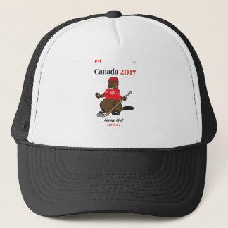 Biber-Hockeyspiel Kanadas 150 im Jahre 2017 an Truckerkappe
