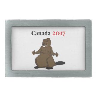 Biber Kanadas 150 im Jahre 2017 Rechteckige Gürtelschnallen
