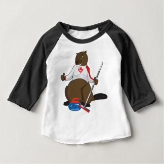 Biber-kräuselnhauptleitung Kanadas 150 im Jahre Baby T-shirt