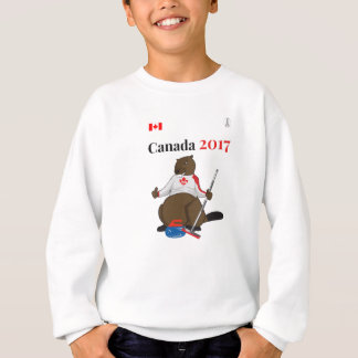 Biber-kräuselnhauptleitung Kanadas 150 im Jahre Sweatshirt