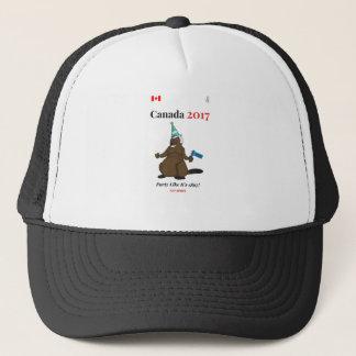 Biber-Party-Party 1867 Kanadas 150 im Jahre 2017 Truckerkappe